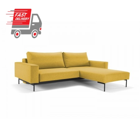 Bragi Chaise Sofa Bed With Arms