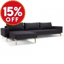 Idun Sleek Lounger Double Sofa Bed
