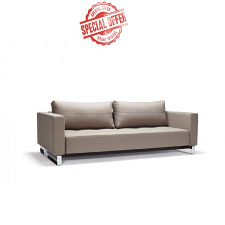 Cassius Deluxe Double Sofa Bed with Chrome Legs