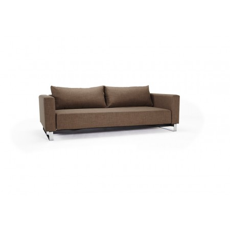 Cassius Sleek Double Sofa Bed with Chrome Legs