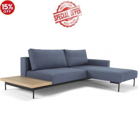 Bragi Double Chaise Sofa Bed