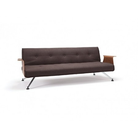 Clubber King Single Sofa Bed with Walnut Arms