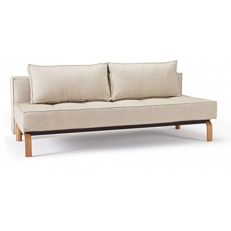 Sly Deluxe Double Sofa Bed with Oak Legs