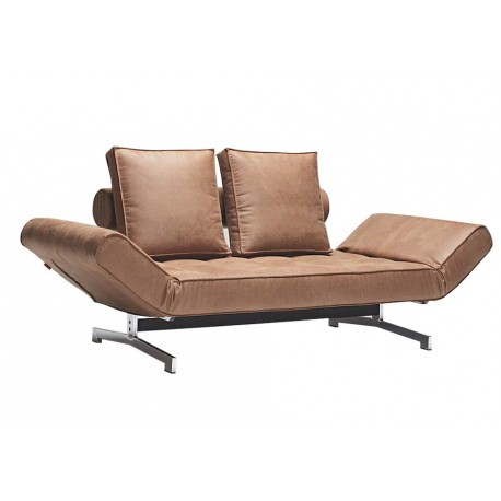 GHIA SINGLE SOFA BED With Chrome Legs
