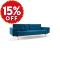 Splitback King Single Sofa Bed with Arms