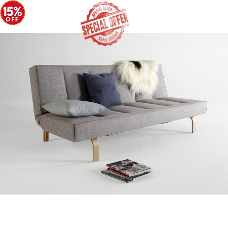 Odin King Single Sofa Bed with Oak Legs